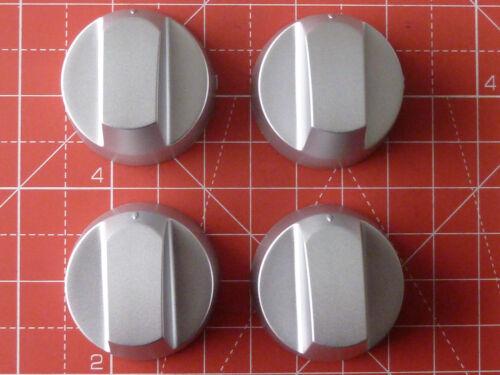 4 x Manopola Argento Kit per adattarsi Neff Forno Fornello Piano Cottura//// con le istruzioni