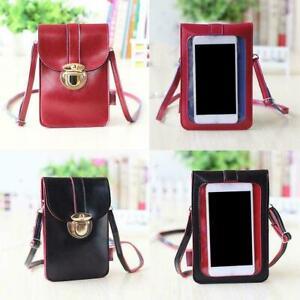 Lady Women Touchable PU Leather Change Bag Cross Purse Mobile Phone Shoulder Bag