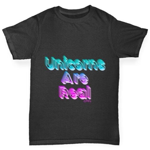 Twisted Envy Unicorns Are Real Boy/'s Funny T-Shirt