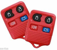 Best 2 Replacement Keyless Entry Remote 4 Button Key For Ford Car Suvs Red