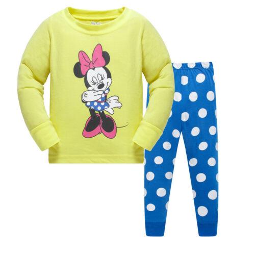 pants sleepwear Breathable pyjamas Kids clothes Girls pajamas set 2T-7T Top