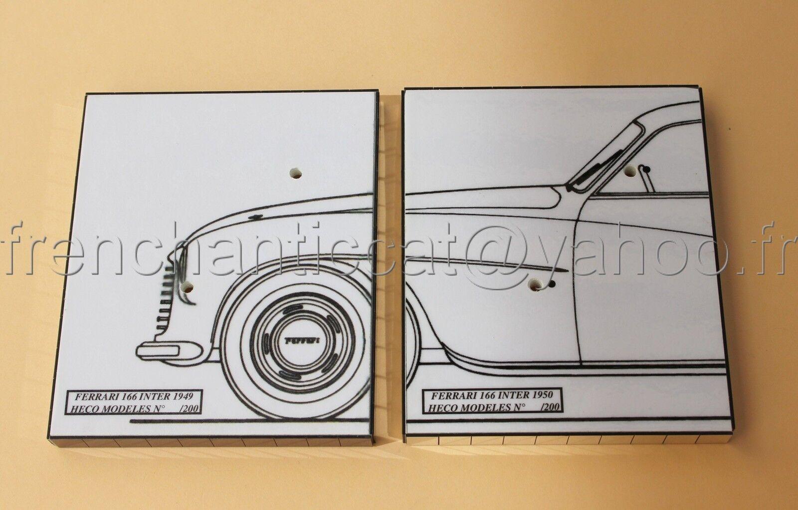 LQ' voiture 1 43  2 socle presentation FERRARI 166 inter 49 et 50 Heco Modeles