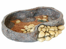 16cm Reptile Food Feeding Bowl Repstyle Vivarium Rock Decoration Feeder FP28276