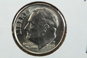 1996 W ROOSEVELT DIME IN MINT CELLO  AS RECEIVED FROM THE UNITED STATES MINT
