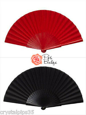 New Fantastic XXL Spanish Flamenco Dance Fan Red Black 12 Inches
