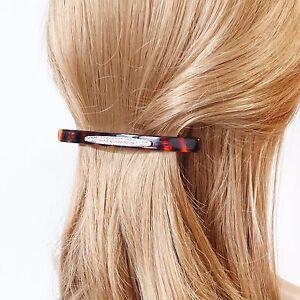 Long-Thin-Acrylic-Dazzling-Rhinestone-Decorative-French-Hair-Barrettes