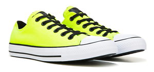 7b680a745932 Image is loading CONVERSE-Neon-yellow-green-volt-black-LOW-TOPS-