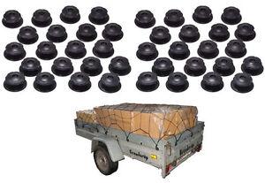 20x Anhänger Anhängernetz Planenseil Befestigungsnoppen Rundknöpfe Noppen Knöpfe