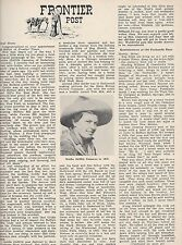 101 Wild West Ranch Show Cowgirl-Goldie Griffith Cameron+Cody,Pawnee Bill,Rein