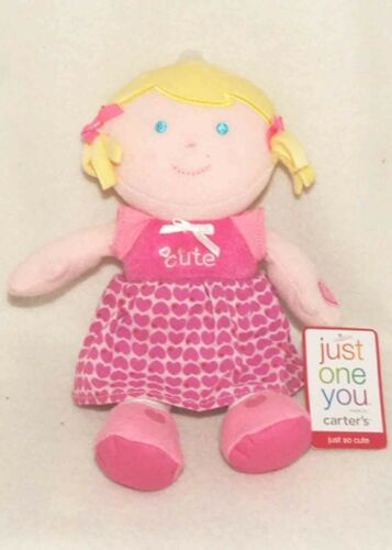 Carters Just So Cute Valentine's Day Blonde Girl Baby Doll NEW!