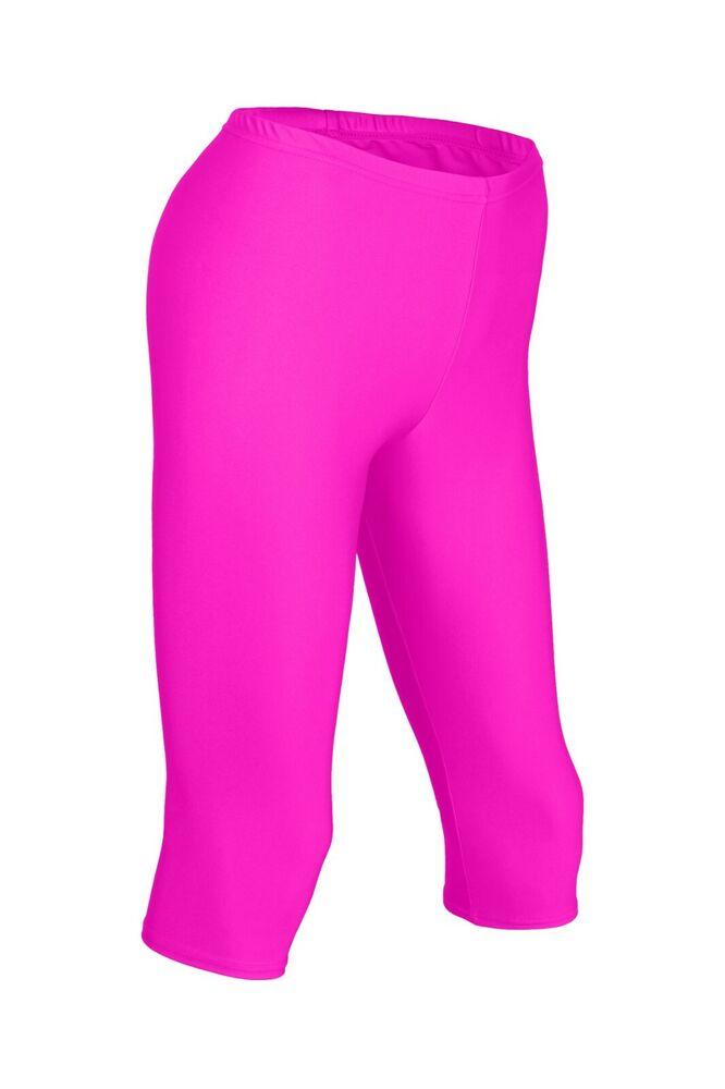 Aimable Capri Corsaire Pink Court Leggings Brillant Femmes Stretch Shiny Brillant Nous Avons Gagné Les éLoges Des Clients