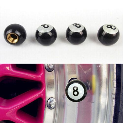 4X Pool 8 Ball Car Bike Suv Wheel Tire Tyre Air Dust Valve Stem Covers Caps H Dn
