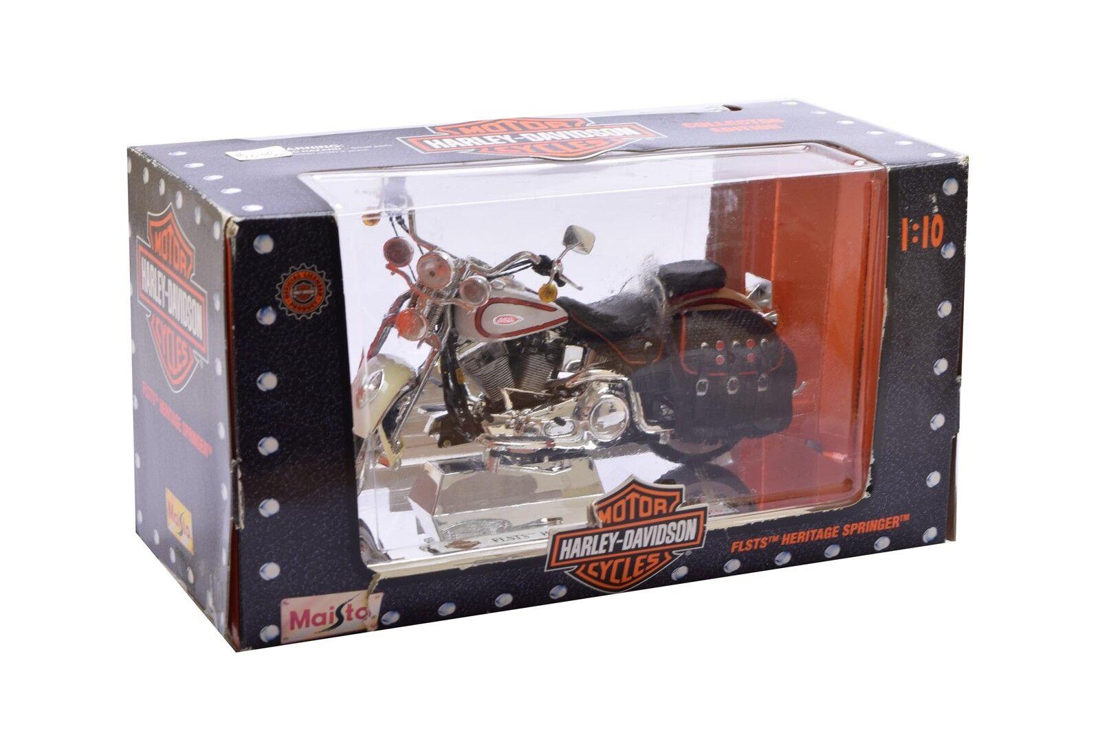 Felice shopping Harley-Davidson 1997 1997 1997 Maisto 1 10 FLSTS Heritage Springer Collectors edizione nuovo  marchio in liquidazione
