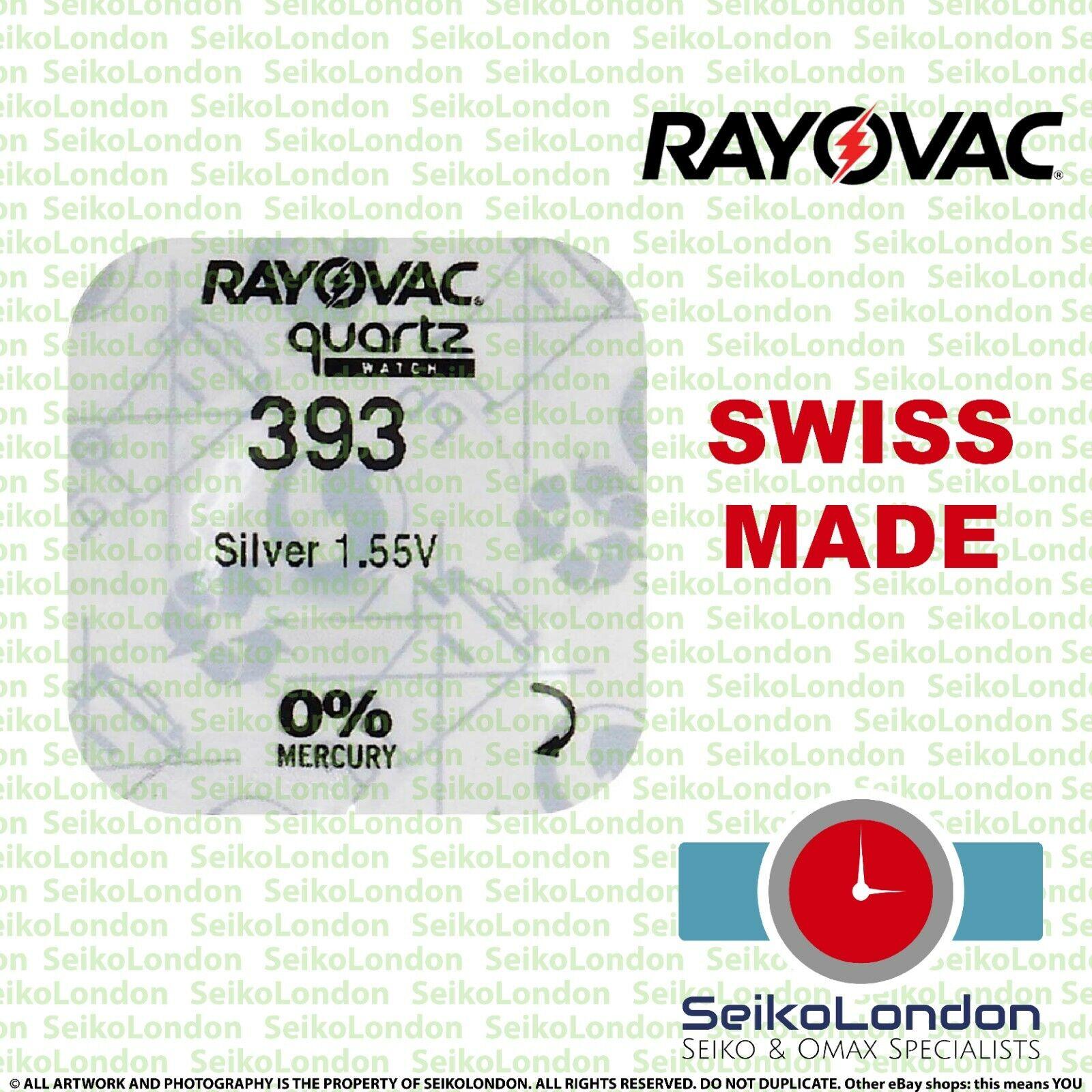 1X Rayovac 393 AG5 SR754W, SR48, SR754, SB-B 1.55v Battery FREE 1st class post