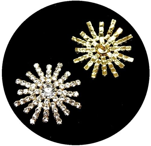 Exclusiv Strassknopf Romina gold 3,0cm 5.90 EUR//St.