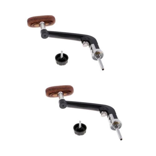 2 stücke Reel Griff Knob Metall Holz Kipphebel Griff für Spinning