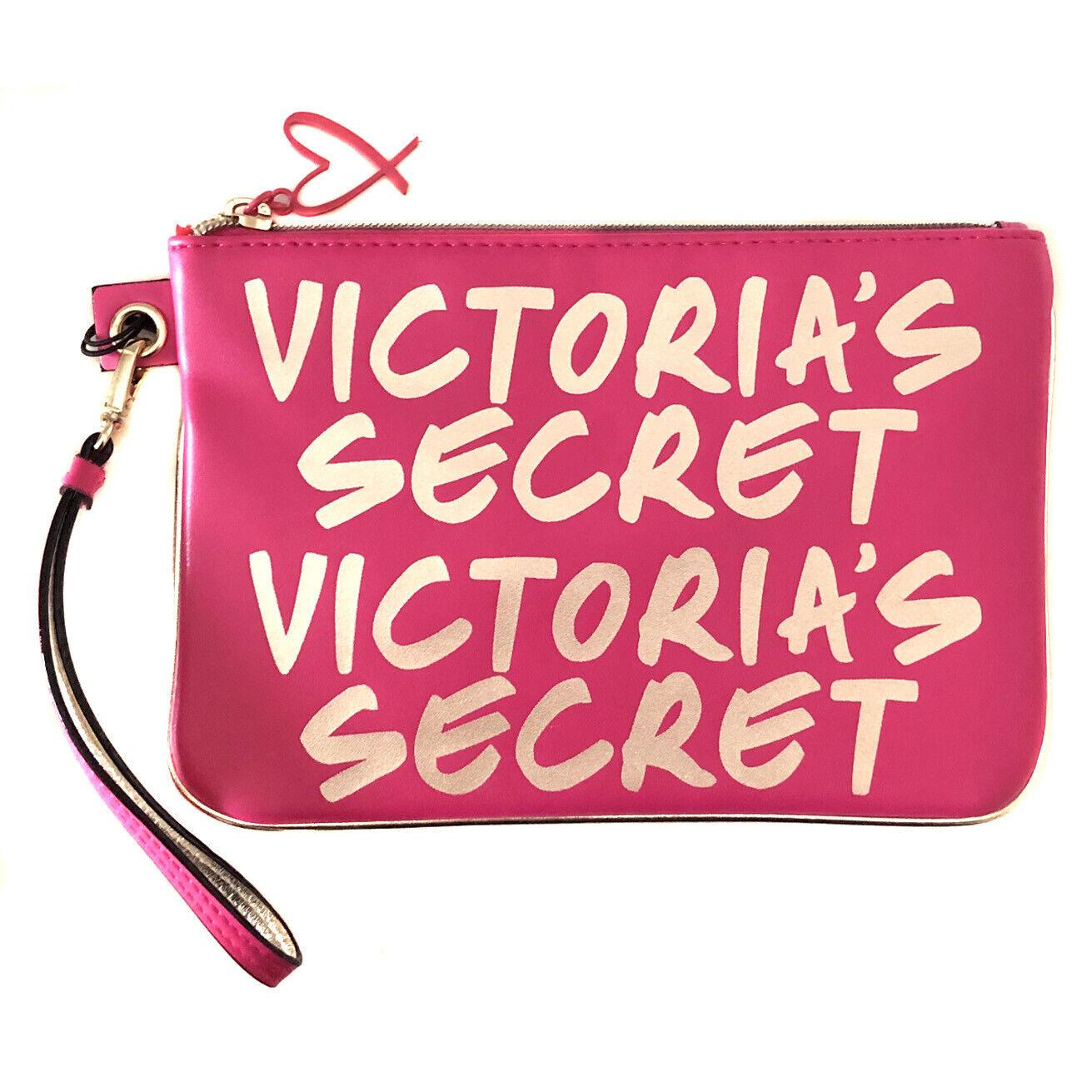 New VICTORIA'S SECRET 'Night Out' Logo Wristlet Purse Wallet Clutch Bag