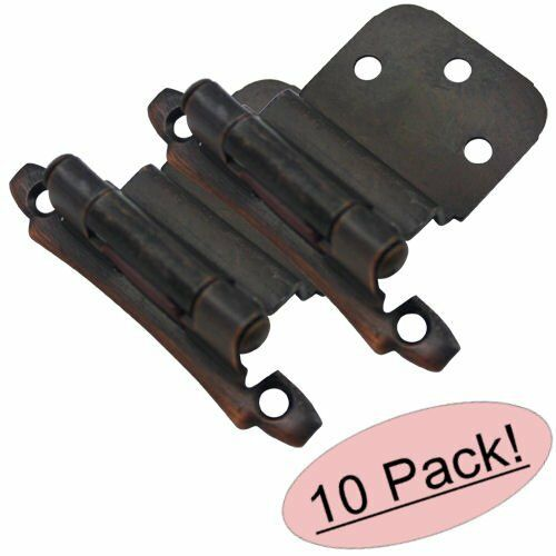 """Sold in Pairs 17928-ORB *10 Pack* Cosmas Oil Rubbed Bronze Hinge 3//8/"""" Inset"""