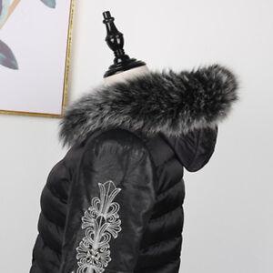 Real-Black-amp-White-Fox-Fur-Collar-Fur-Hood-Trimming-Scarf-75-12cm-29-5X4-7-034