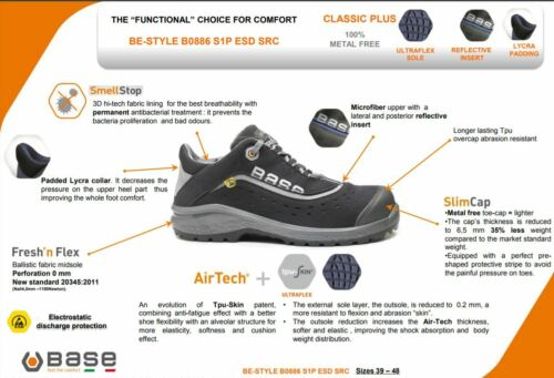 Uomo Defaticante Scarpa Be Suola Plus style Classic B0886 Base Airtech Lavoro CeWBdxro