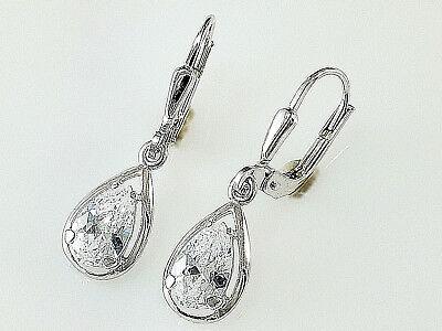 027 mit verschiedenen Edelsteinen 1 Paar Sterling Silber Ohrringe Nr