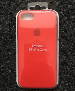 newest 43dec cbc4e Details about Apple iPhone 8/7 Great Handling Case Genuine Apple Silicon  Cover - Spicy Orange
