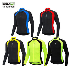 TS Mens Long Sleeve Cycling Jacket Sports Mountain Bike MTB Road Bike Cycling clothing