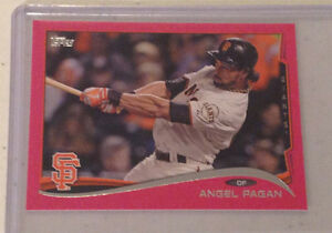 Details about 2014 topps mini angel pagan pink 24 25 made giants 442