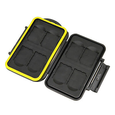 JJC Water-resistant Anti-shock Holder Memory Card Case For 8pcs SecureDigital SD