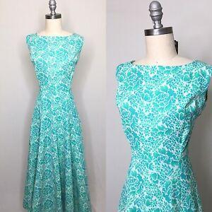 Vintage 70s Polyester Knit Jacquard Maxi Dress Size Medium