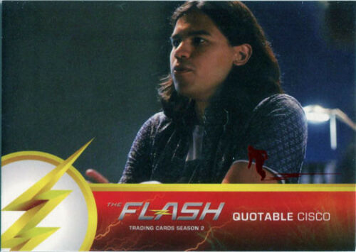 Flash Season 2 Scarlet Speedster Deco Red Foil Variant Quotable Q02 Chase Card