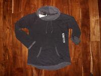 NWT Womens CALVIN KLEIN Dk Gray Cowl Neck Pullover Long Sleeve Sweatshirt M $59