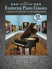 Explorando Piano Classics repertorio, nivel 1: un método obra maestra Bachus, Alfred