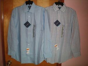 NWT-NEW-mens-periwinkle-blue-CROFT-amp-BARROW-l-s-no-iron-classic-fit-dress-shirt