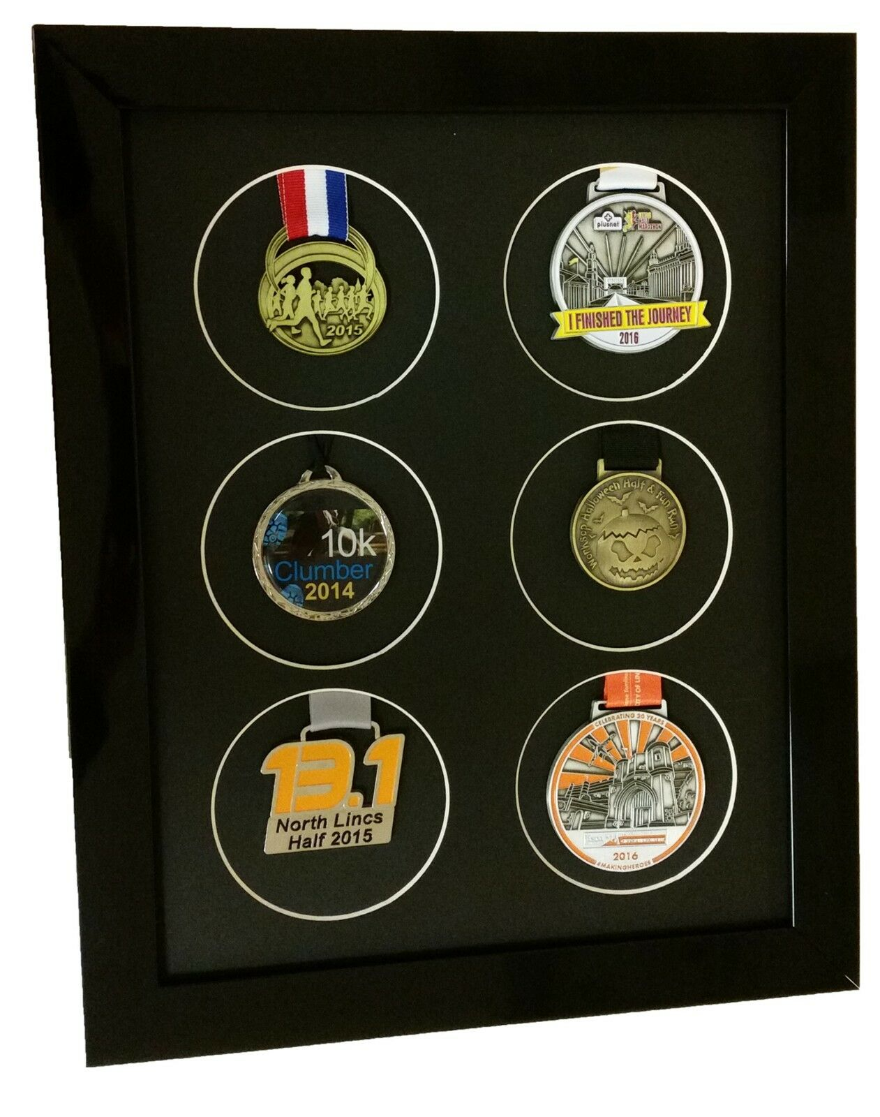 Medals Display Frame for 6 sports or running medals
