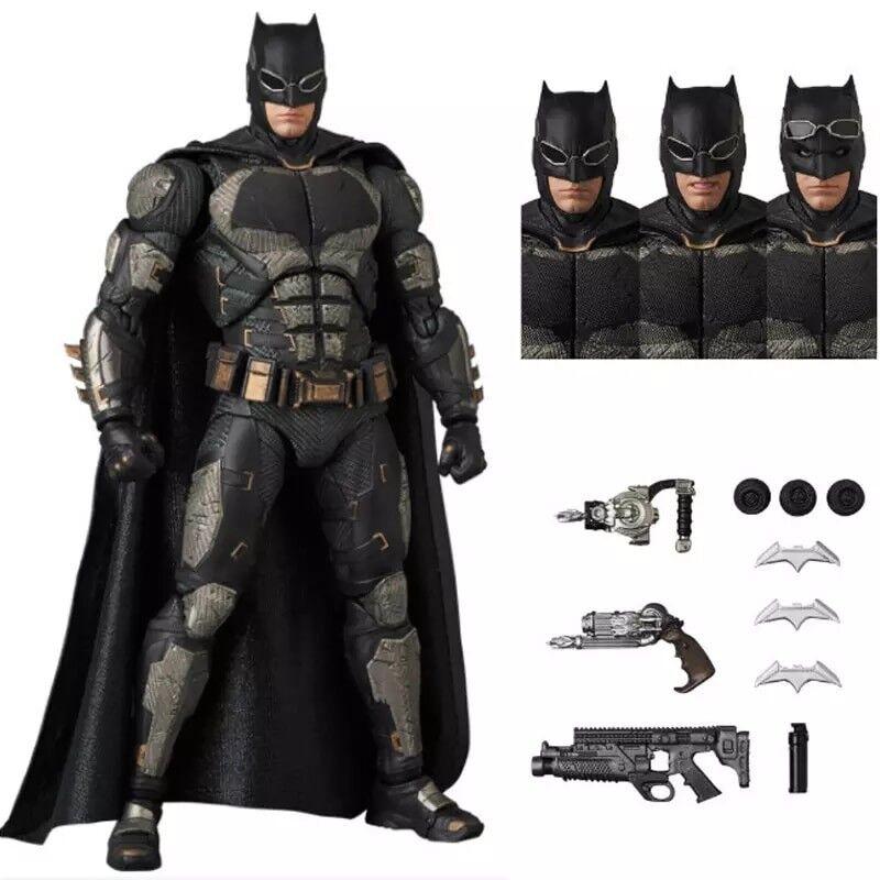 Mafex 056 batman taktischen anzug ber r dunkle ritter die gerechtigkeitsliga pvc 16cm