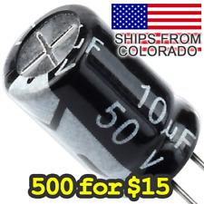 500 For 15 Electrolytic Capacitors 10uf 50v 100uf 50v