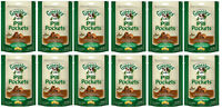 Greenies Pill Pockets For Dogs 7.9oz Capsule Peanut Butter Flavored 12 Pack