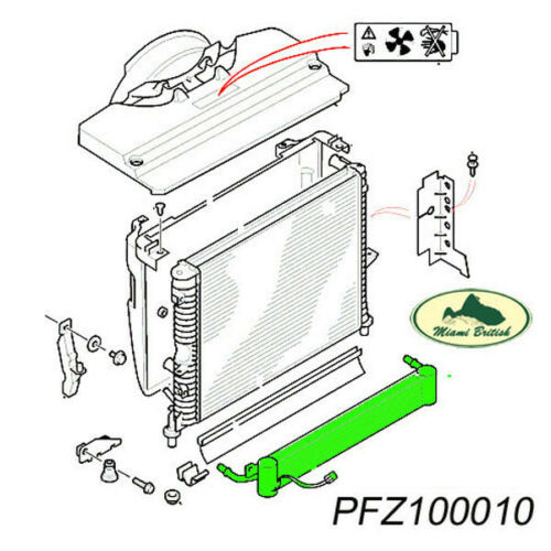 LAND ROVER TRANSMISSION OIL COOLER RADIATOR DISCOVERY 2 II 99-02 PFZ100011 OEM