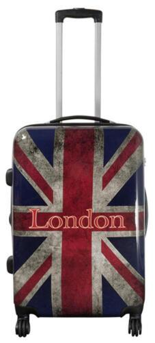 Coque rigide valise Voyage Trolley 4 Roulettes dehnfalte Motif PM uk london taille L