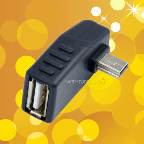 Mini 5Pin USB 2.0 Male to USB A Female Right Adapter Adaptor Converter Connector