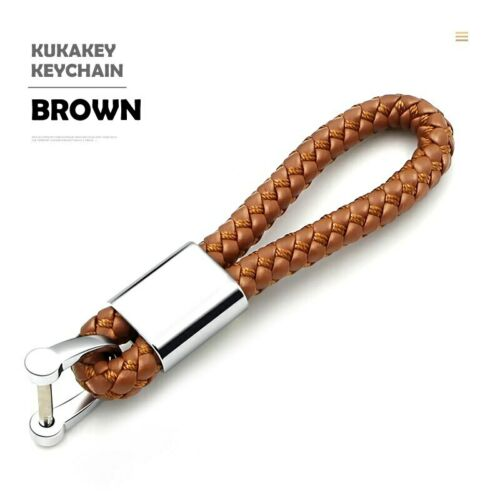 Leather Hand Woven Keychain Metal key rings Chains Customize Personalized Gifts