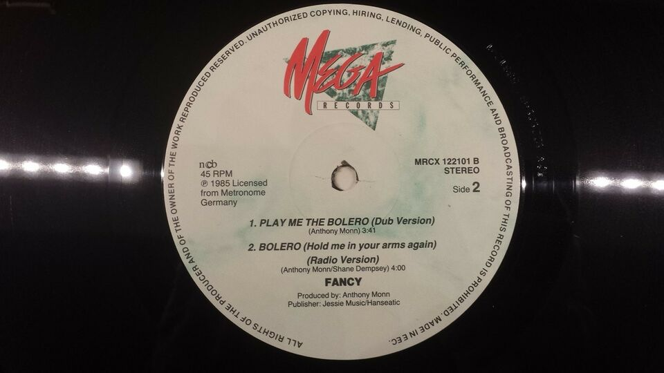 "Maxi-single 12"", Fancy, Bolero (Hold Me In Your Arms Again)"