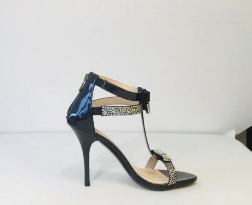 EUR 39 Glamour Collection Ladies High Heel Sandals Black  Size UK 6