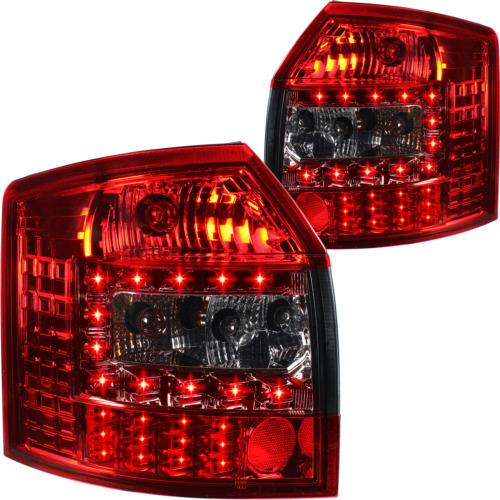 LED Rückleuchten Satz rot smoke schwarz für Audi A4 Avant Kombi Typ 8E B6  00-04