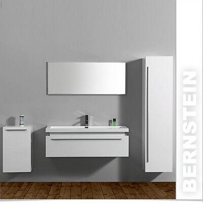 BERNSTEIN Design Badmöbelset Badmöbel Badezimmer Waschbecken Spiegel  Weiß