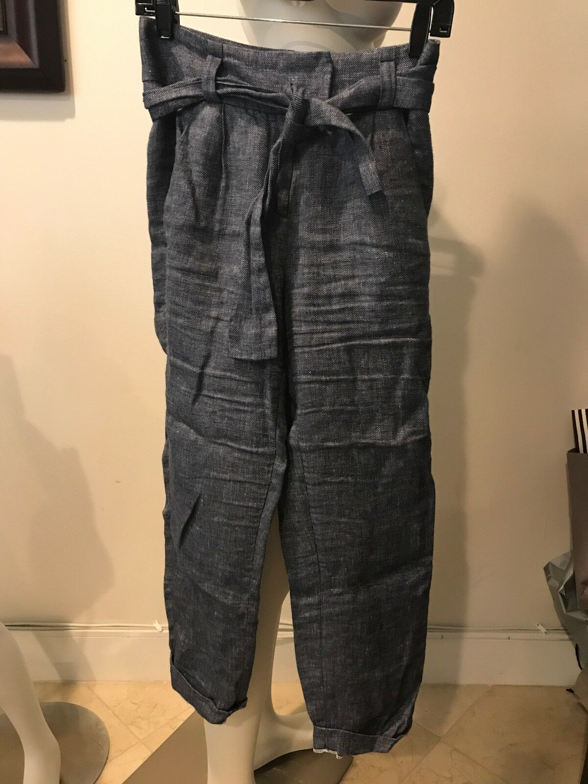 Preowned MAJE  blueE DENIM PANTS SIZE 36    BARELY USED     GA