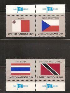 UNO NY 1981, Nr. 377-380, Flaggen, postfrisch (mnh), Malta, Thailand Trinidad - Hamburg, Deutschland - UNO NY 1981, Nr. 377-380, Flaggen, postfrisch (mnh), Malta, Thailand Trinidad - Hamburg, Deutschland