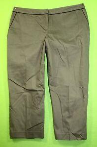 Attention sz 8 Womens Green Casual Capris Pants Stretch MI39
