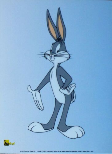 Bugs Bunny Warner Bros Looney Tunes Limitierte Edition Sericel Cel Poster Kunst